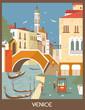 Leinwandbild Motiv Venice.