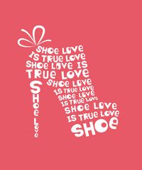 Woman shoe from quotes
