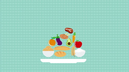 Food icons Animation Design, HD 1080