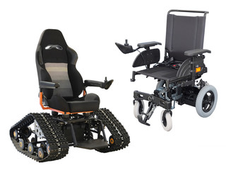wheelchair on tracks