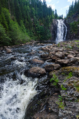 Double waterfall in Trondheim