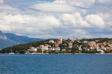 Ciovo island, Trogir area, Croatia view from the sea