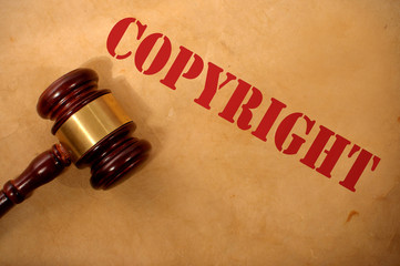 Copyright law concept