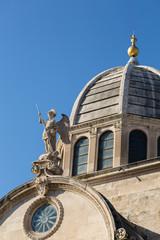 Détail de la cathédrale de Sibenik