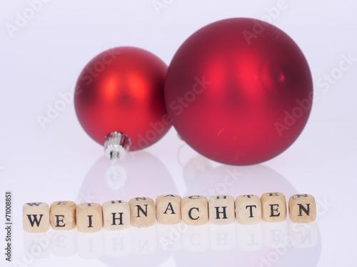 canvas print picture Weihnachten, Christbaumkugeln