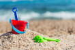 Leinwandbild Motiv Toys at the beach