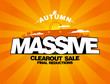Massive autumn sale design with shopping bag.