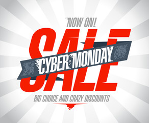 Cyber monday sale design.