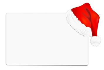Weihnachten Zettel Mütze