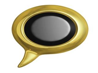 Golden Speech Bubbles