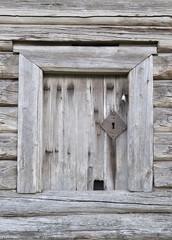 Door of old wooden barn
