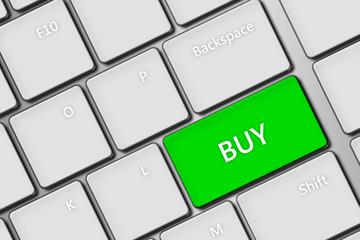 computer keyboard with buy key