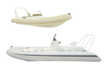 inflatable boat under the white background