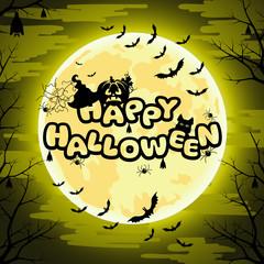 Happy Halloween sign for Halloween