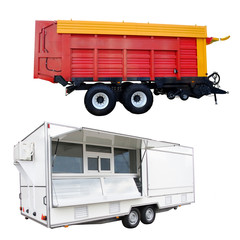 agricultural trailer and trading tent