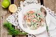 Постер, плакат: Картофельный салат с лососем