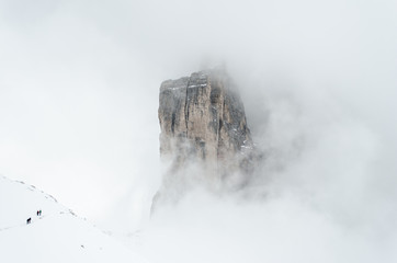 Hiking the Tre Cime in winter