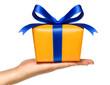 Leinwanddruck Bild - Ein Geschenk machen