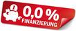 Label 0,0 Prozent Finanzierung mit Sparschwein