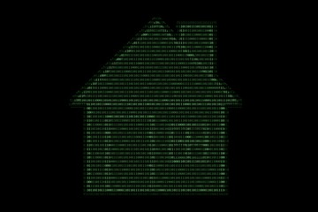 home computing made with binary code concept