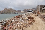 Damaged by hurricane Odile marine of Cabo San Lucas