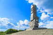 Westerplatte. Monument commemorating battle of Second World War