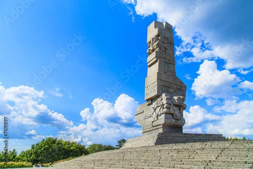 Zdjęcia na płótnie, fototapety, obrazy : Westerplatte. Monument commemorating battle of Second World War