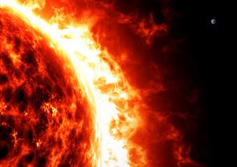 Sole e terra, proporzioni e grandezze. Spazio