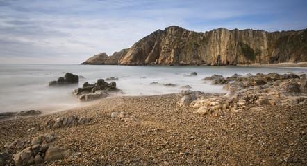 Vistas en la costa asturiana