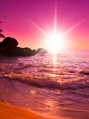 Evening Landscape Twilight Shore
