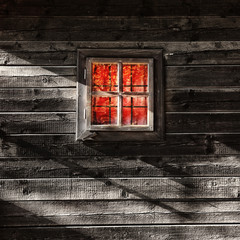 Lonely wooden window background