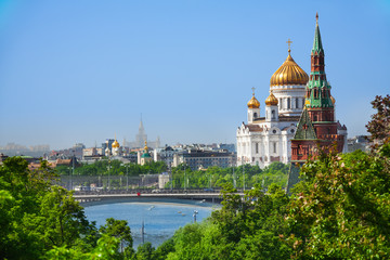 Cityscape with Cathedral of Christ the Savior