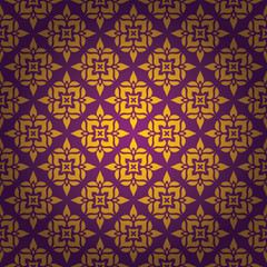 Thai Art Background vector, Thai art pattern vector.