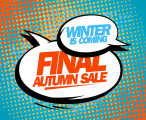 Final autumn sale pop-art design.