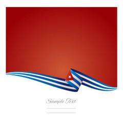 Abstract color background Cuban flag vector