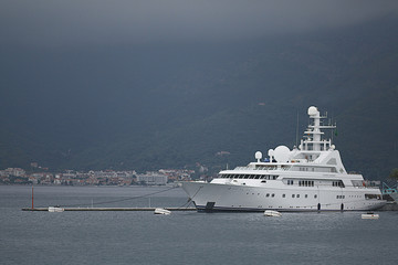 Golden Odyssey yacht in the port of Tivat  on JUNE