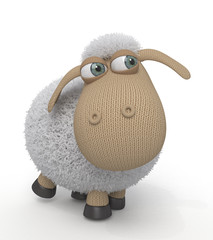 3d ridiculous sheep