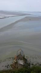 Vue sur la mer au Mont Saint Michel