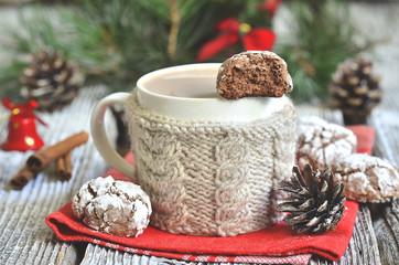"""Cookies """"Chocolate crinkles""""."""