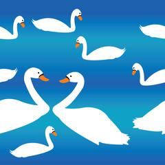 Swan decor pattern