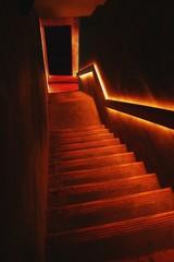 A Dimly Lit Staircase