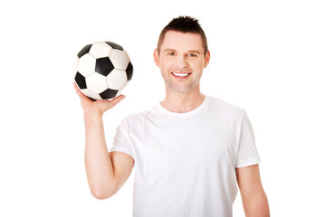 Yaong man with soccer ball