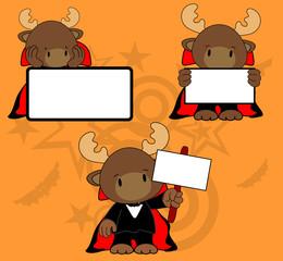 halloween vampire costume reindeer cartoon set