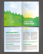 Vector empty bifold brochure print template cartoon design
