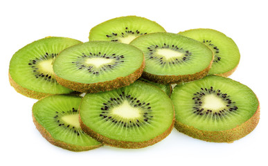 kiwi slice isolated