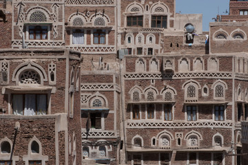 Buildings in Old Town Sanaa, Yemen, CIRCA Feb. 2011