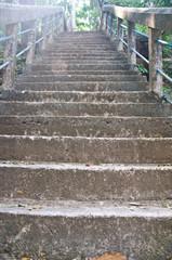 Stairs up the hill, to PHRA THAT PHUPEK ,Sakon Nakhon, Thailand