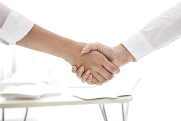 Handshake between women