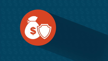 Money and shield protection, Animation Design, HD 1080