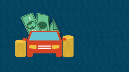 Car and money, Animation Design, HD 1080
